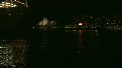 Sydney Harbour Night, Circular Quay, Opera House - stock footage
