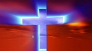 Cross with time lapse clouds Stock Footage