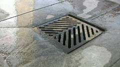 City drain. Stock Footage