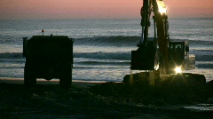 Excavator and truck Stock Footage