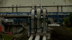 Big Geothermal Pipes Stock Footage