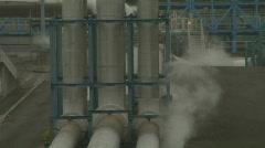 Big Geothermal Pipes 2 - stock footage