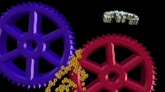 The gears of economics and politics - stock footage