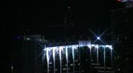 Miami beach night skyline 1 Stock Footage