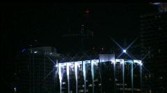 Miami beach night skyline 1 - stock footage