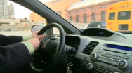 View from inside car during rush hour (3 of 7) Stock Footage