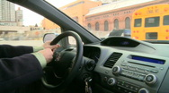 View from inside car during rush hour (1 of 7) Stock Footage