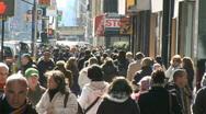 Crowds walking in urban setting (3 of 8) Stock Footage