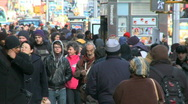Crowds walking in urban setting (2 of 8) Stock Footage