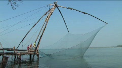 Chinese fishing nets 10 - stock footage