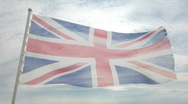 Stock Video Footage of United Kingdom flag