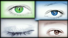 Eye collage  - stock footage