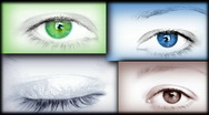 Eye collage  Stock Footage