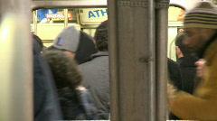 NYC Subway passengers - stock footage