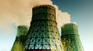 Cooling towers 1 Stock Footage