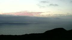 Sunrise above 400 m sea level Time lapse Stock Footage
