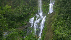 High waterfall in the rainforest on the island of Mindoro in Philippines Stock Footage
