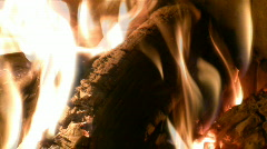Live fire of a fireplace. Stock Footage