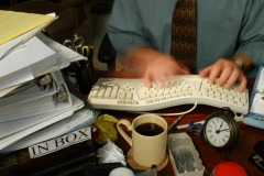 Typing 2 DV720 Time Lapse - stock footage