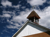 Stock Video Footage of NM Steeple Clouds 2 DV720 Time Lapse