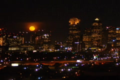 Moonrise over Dallas DV720 Time Lapse - stock footage
