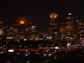 Stock Video Footage of Moonrise over Dallas DV720 Time Lapse