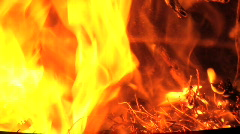 Camp Fire 3 Stock Footage