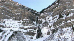 Bridle Vail Falls winter P HD Stock Footage