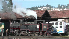 Heritage stream locomotive - stock footage