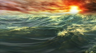 Stock Video Footage of 1078 Ocean Waves Whitecaps Sunset HD