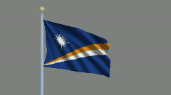 Flag of the Marshall Islands Stock Footage