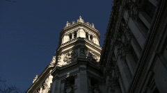 Madrid City Hall Stock Footage