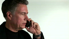 Businessman on cellphone Stock Footage