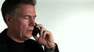 Businessman on cellphone Stock Footage