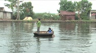 Round boats fishing Stock Footage