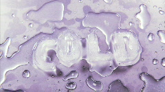 Freezing Water Forms into the Word Cold in Ice Cubes, Time Lapse Stock Footage