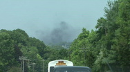 Black Smoke In The Distance Stock Footage