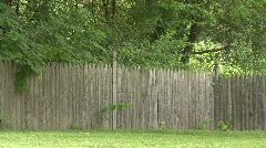 Wooden Picket Fence Stock Footage