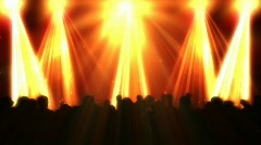 Disco flashes with concert crowd and colorful reflectors Stock Footage
