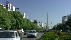Stock Video Footage of Buenos Aires 9th of July Avenue
