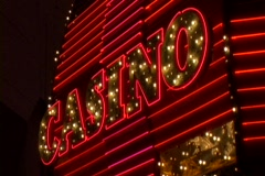 Casino Neon Sign Animate Stock Footage