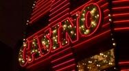 Casino Neon Sign Animate Stock Footage
