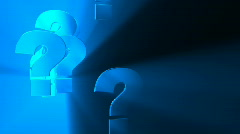 Blue Question - Motion Background 54 (HD) - stock footage