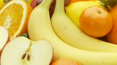 Delicious fruits close loop part II Stock Footage