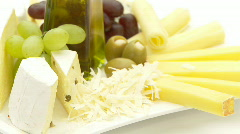 cheese assortment close high key - stock footage