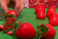 Food Prep 09 - Strawberry Stock Footage