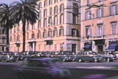 Street scene in Italy-From 1960s film Stock Footage