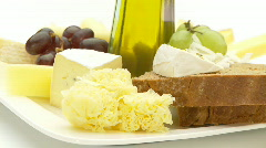 cheese selection - stock footage
