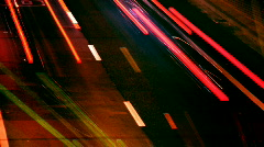 barcelona traffic transport vehicles rush hour urban city night - stock footage