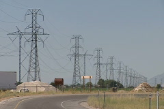 Power Grid 03 Stock Footage